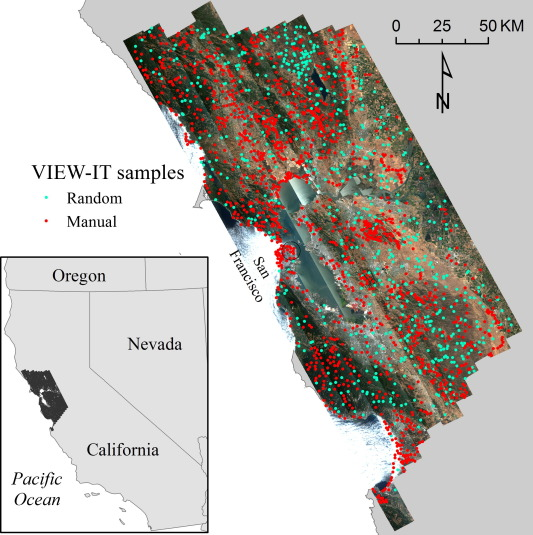 Mapping of land cover in northern California with simulated