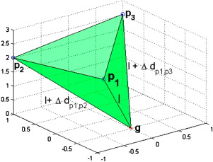 Efficient trilateration algorithm using time differences of