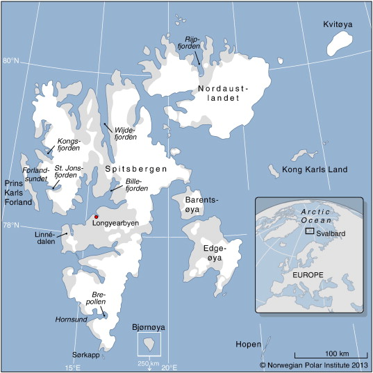 The Importance Of Tidewater Glaciers For Marine Mammals And - Norway glacier map