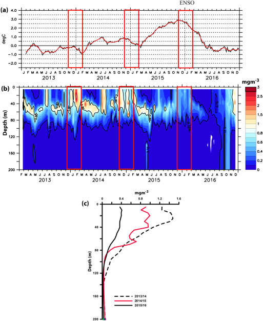 a2a318acacc96 Impact of 2015–2016 ENSO on the winter bloom and associated ...