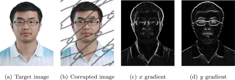 Gradient-aware blind face inpainting for deep face