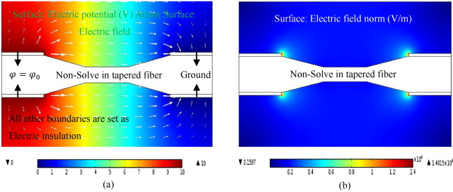 Modeling and simulation of tapered fiber-optic oil concentration