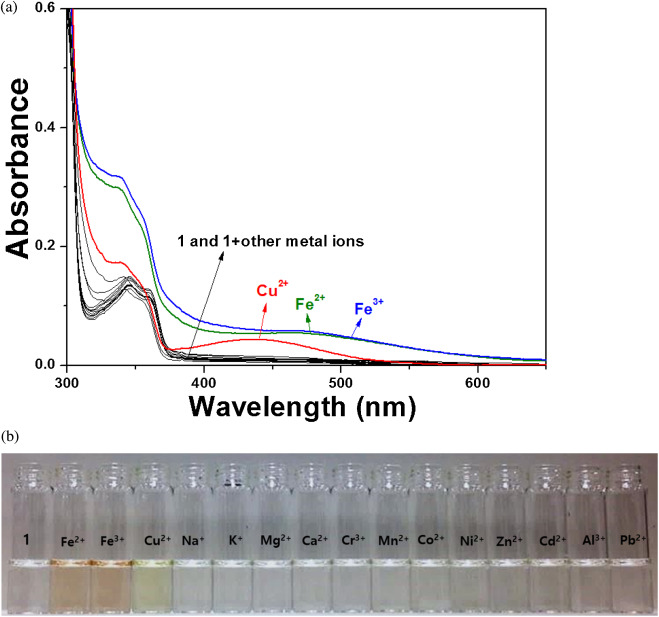 A Naked Eye Chemosensor For Simultaneous Detection Of Iron And