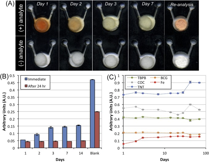 Simple reagent storage in polyester-paper hybrid