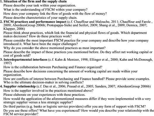 Focusing the financial flow of supply chains: An empirical