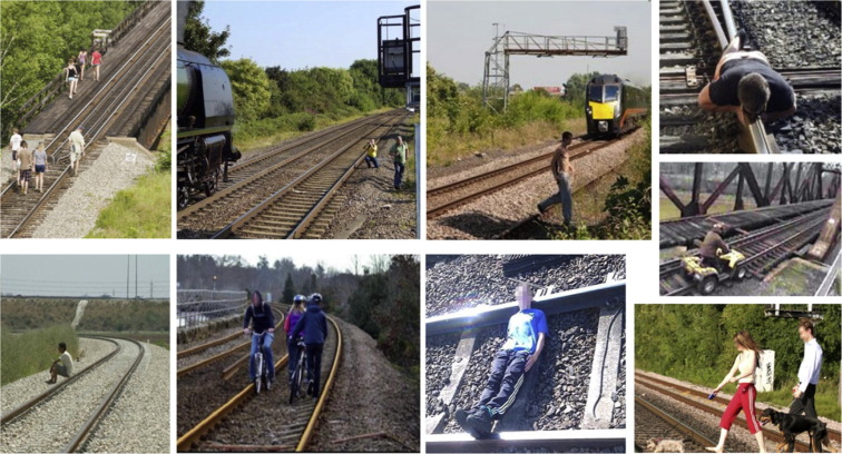 Non-crossing rail-trespassing crashes in the past decade: A