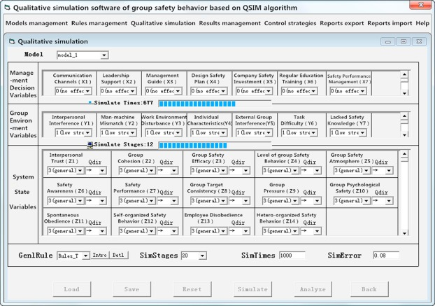 In-depth research on qualitative simulation of coal miners' group