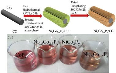 Three Dimensional Bimetallic Phosphides