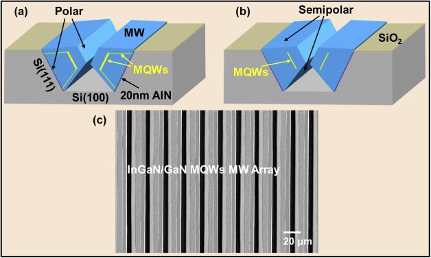 A single InGaN/GaN multiple quantum wells microwire light