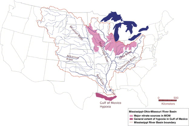 Restoration Of Wetlands In The MississippiOhioMissouri MOM - Us map showing mississippi river