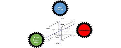 Parametric study and kinetic testing for ethanol steam