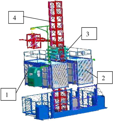 Construction hoist security application for tall building