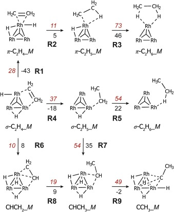 Ethene Hydrogenation On Zeolite Supported Rhodium Clusters A