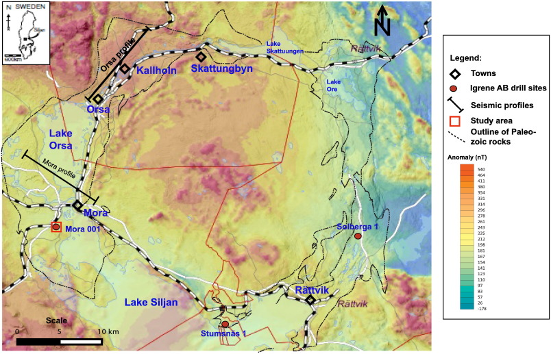 Analysis Of Borehole Geophysical Data From The Mora Area Of The - Sweden map mora