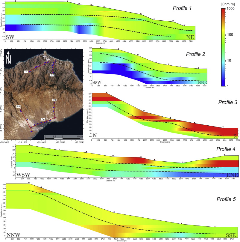 Water Prospection In Volcanic Islands By Time Domain