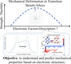 Effects of electronic structures on mechanical properties of