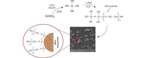 Synthesis of poly(ethylene glycol) (PEG) grafted silica
