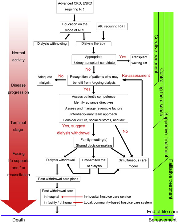 Withdrawal from long-term hemodialysis in patients with end
