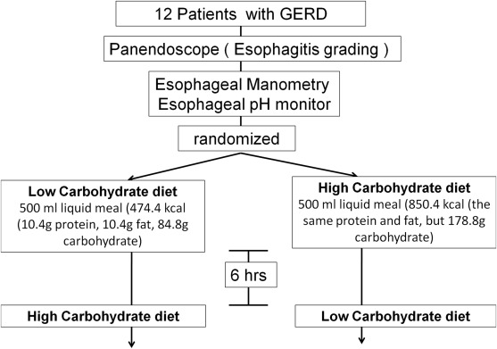 The effect of dietary carbohydrate on gastroesophageal