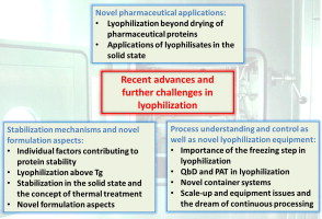 Recent advances and further challenges in lyophilization