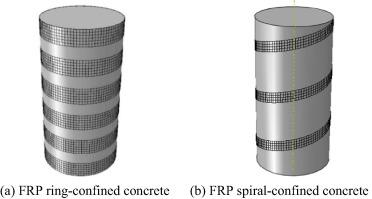 Compressive behavior of FRP ring-confined concrete in