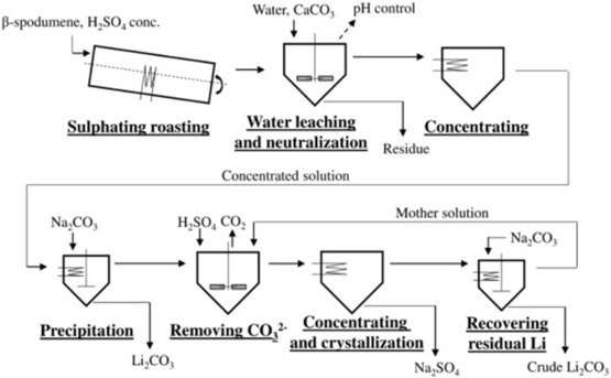 Micro-morphology and phase composition of lithium slag from