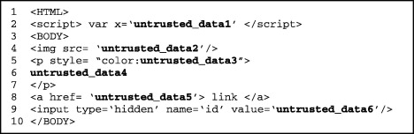 Automated removal of cross site scripting vulnerabilities in