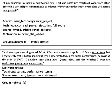 Understanding reuse of software examples: A case study of
