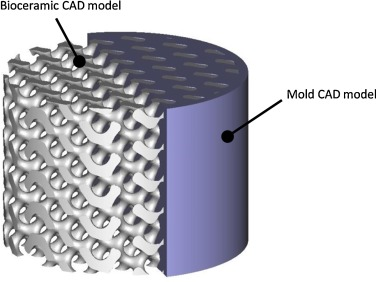 Porous hydroxyapatite bioceramics produced by impregnation of 3D