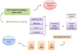 Decontamination of CCA-treated eucalyptus wood waste by acid