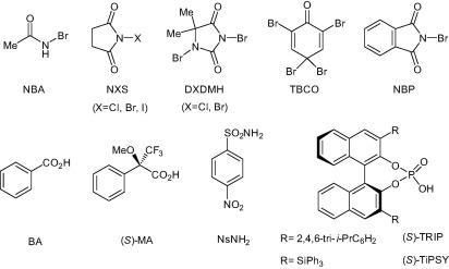 Regioselective organocatalyzed asymmetric bromolactonization of aryl
