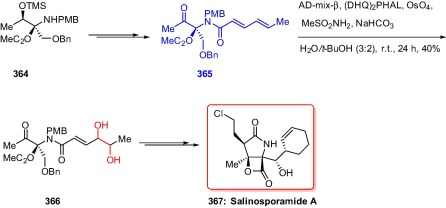 Applications of sharpless asymmetric dihydroxylation in the