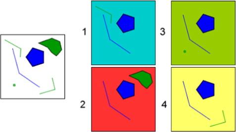 Map segmentation for geospatial data mining through