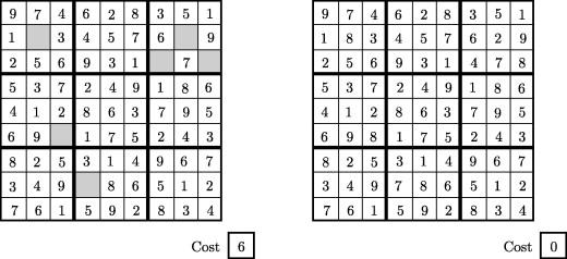 A hybrid AC3-tabu search algorithm for solving Sudoku