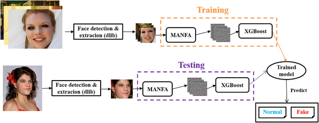 Face image manipulation detection based on a convolutional neural