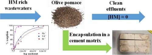 Heavy metals retention (Pb(II), Cd(II), Ni(II)) from single and