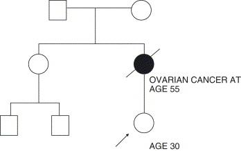 ovarian cancer family history)