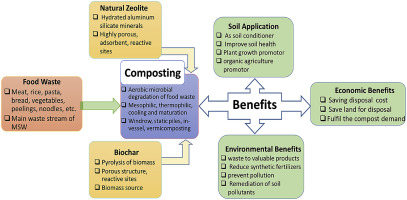 Optimizing the process of food waste compost and valorizing its