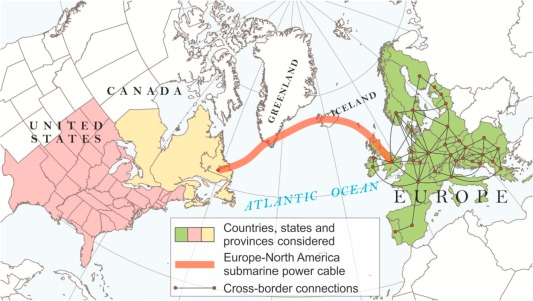 Submarine power cable between Europe and North America: A ...