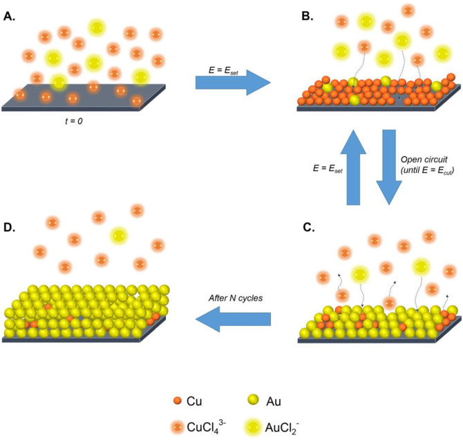 Electrochemical recovery of minor concentrations of gold