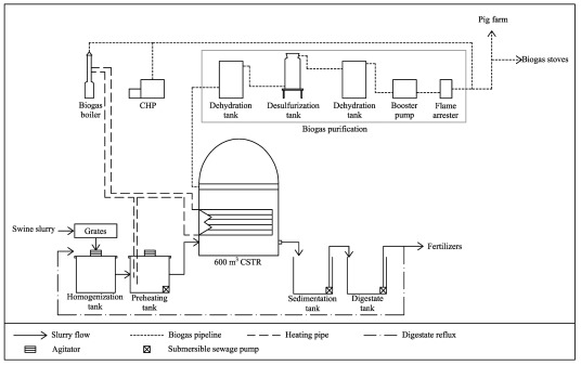 Life cycle assessment of large-scale and household biogas