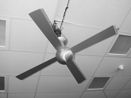Performance results for a high efficiency tropical ceiling fan and