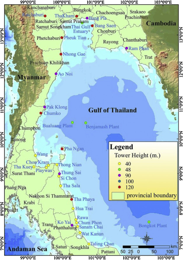 Offshore Wind Power Potential Of The Gulf Of Thailand Sciencedirect