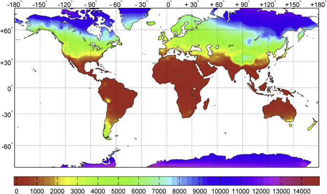 Climatic Parameters For Building Energy Applications A Temporal - Ashrae climate zone map