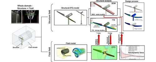 Fluid-structure interaction analysis of NREL phase VI wind