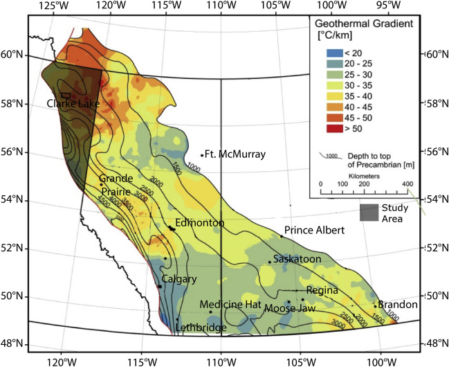 Sedimentary basin geothermal favourability mapping and power