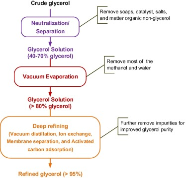 Value-added processing of crude glycerol into chemicals and
