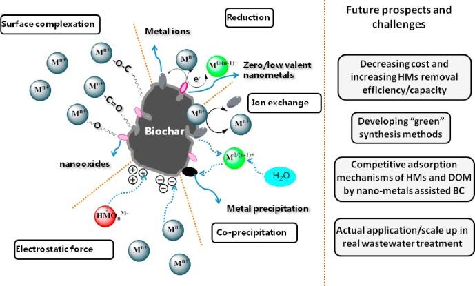 Recent advances in nanoscale-metal assisted biochar derived