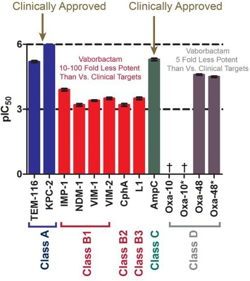 Profiling interactions of vaborbactam with metallo-β-lactamases