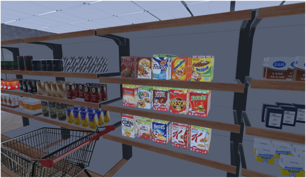 Consumers' food selection behaviors in three-dimensional (3D